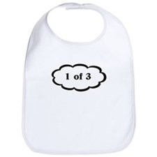 Funny 1 of 3 WHite Triplet Bib