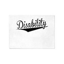 Disability, Retro, 5'x7'Area Rug