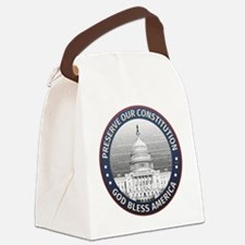 Preserve Our Constitution Canvas Lunch Bag