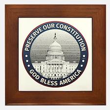 Preserve Our Constitution Framed Tile