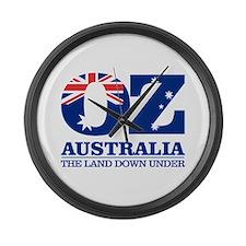Australia (OZ) Large Wall Clock
