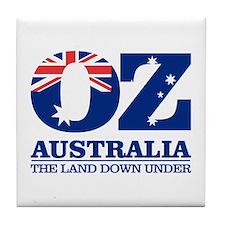 Australia (OZ) Tile Coaster