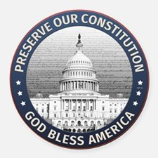 Preserve Our Constitution Round Car Magnet
