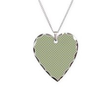 Light Blue Green Small Polka Dots Necklace