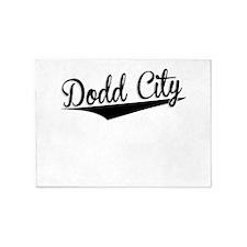 Dodd City, Retro, 5'x7'Area Rug