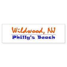 Wildwood Philly's Beach Bumper Bumper Sticker