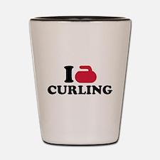 I love Curling Shot Glass