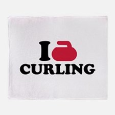 I love Curling Throw Blanket