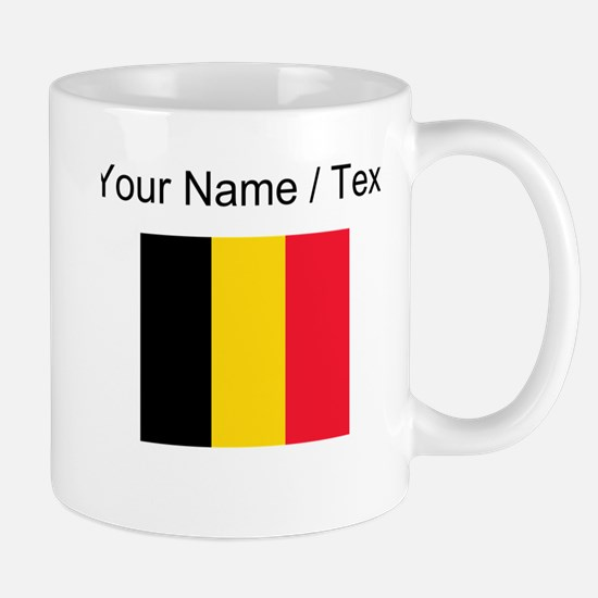 Custom Belgium Flag Mugs