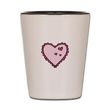 Valentine Hearts Shot Glass