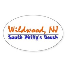 Wildwood South Philly Beach Oval Decal