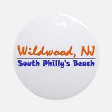 Wildwood South Philly Beach Ornament (Round)
