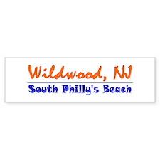 Wildwood South Philly Beach Bumper Bumper Sticker