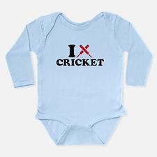 I love Cricket bats Long Sleeve Infant Bodysuit