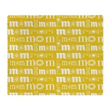 Gifts for Moms Mom Pattern Throw Blanket
