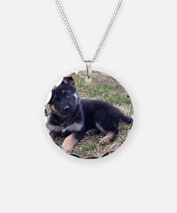 German Shepherd Pup Necklace