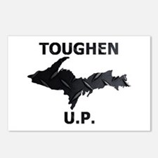 Toughen U.P. In Black Diamond Plate Postcards (Pac