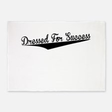 Dressed For Success, Retro, 5'x7'Area Rug