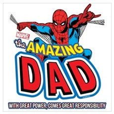 The Amazing Dad Wall Art Poster