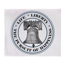 Liberty Bell Throw Blanket