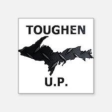 Toughen U.P. In Black Diamond Plate Sticker