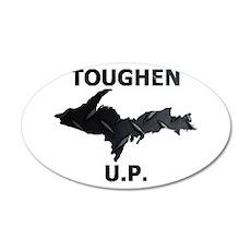 Toughen U.P. In Black Diamond Plate Wall Decal