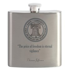 thomas jefferson quote (vigilance).jpg Flask