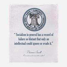 Thomas Sowell Quote Throw Blanket