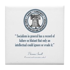 Thomas Sowell Quote Tile Coaster