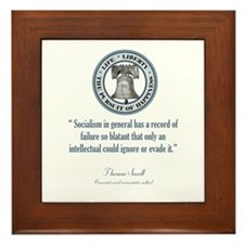 Thomas Sowell Quote Framed Tile