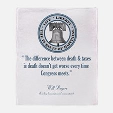 Will Rogers Quote Throw Blanket