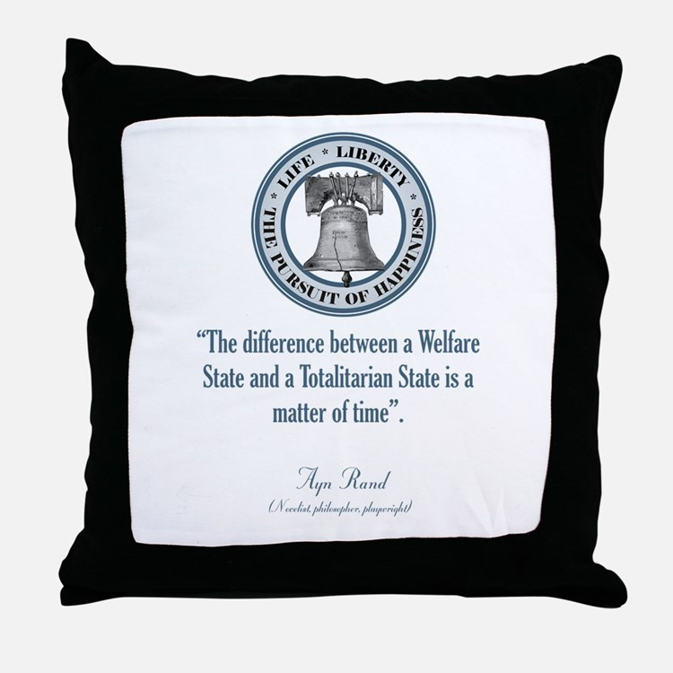 Ayn Rand Quote Throw Pillow
