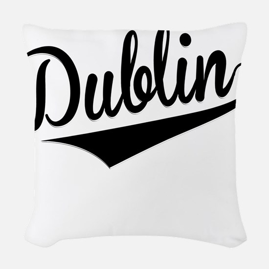 Dublin, Retro, Woven Throw Pillow