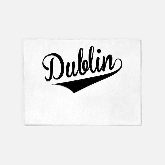 Dublin, Retro, 5'x7'Area Rug