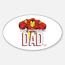 Invincible Dad Sticker (Oval)