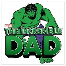 The Incredible Dad Wall Art Poster
