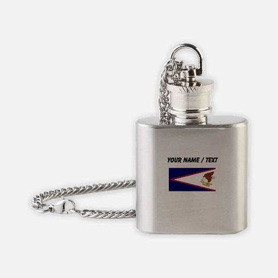 Custom American Samoa Flag Flask Necklace