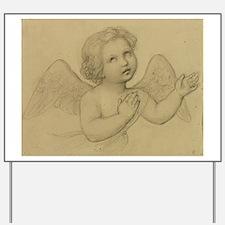 Marie Ellenrieder - Winged Angel - 1863 - Drawing