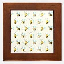 Sweet Bees Framed Tile
