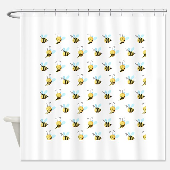 Sweet Bees Shower Curtain