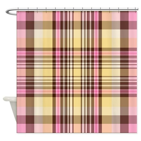 Banana Split Plaid Shower Curtain By Thepluralmind