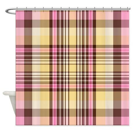 Banana Split Plaid Shower Curtain By Thepluralmind