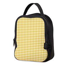 Yellow Gingham Neoprene Lunch Bag
