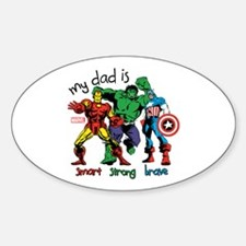Marvel My Dad is Smart Decal