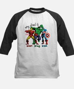 Marvel My Dad is Smart Kids Baseball Jersey