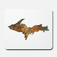 Raw Float Copper Mousepad