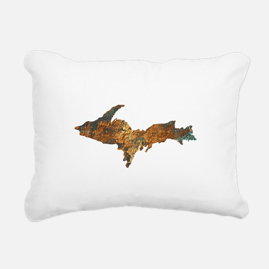 Raw Float Copper Rectangular Canvas Pillow
