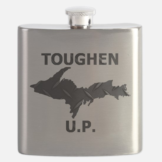 Toughen U.P. In Black Diamond Plate Flask