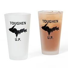 Toughen U.P. In Black Diamond Plate Drinking Glass
