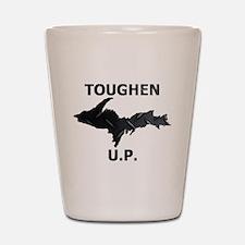Toughen U.P. In Black Diamond Plate Shot Glass